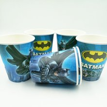 10pcs/set Batman Cup Cartoon Theme Party For Children/Girls Happy Birthday Decoration Supply Festival