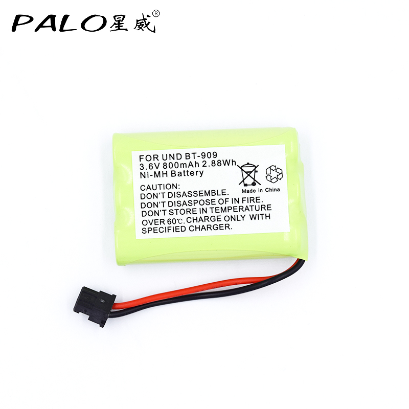 PALO rechargeable cordless phone battery for uniden BT-909 BT909 3 * <font><b>AAA</b></font> Ni-MH 800mAh 3.6V rechargeable batteries image