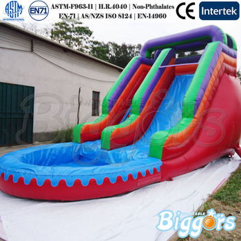 Commercial Grade Inflatable Slide Inflatable Water Slide With Pool Games