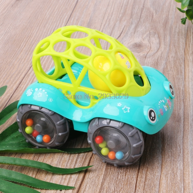 Baby Infant Rattle Roll Car Toy Soft Flexible Sounds Perfect Teething Kids Play Drop shipping