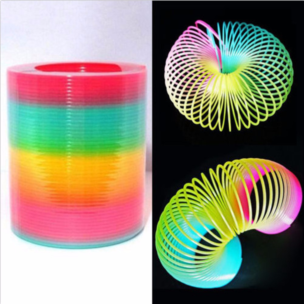 Magic Kids Toy Large Magic Plastic Rainbow Spring Colorful Funny Classic Toy For Children Gift 8.7*9cm 55 *45cm