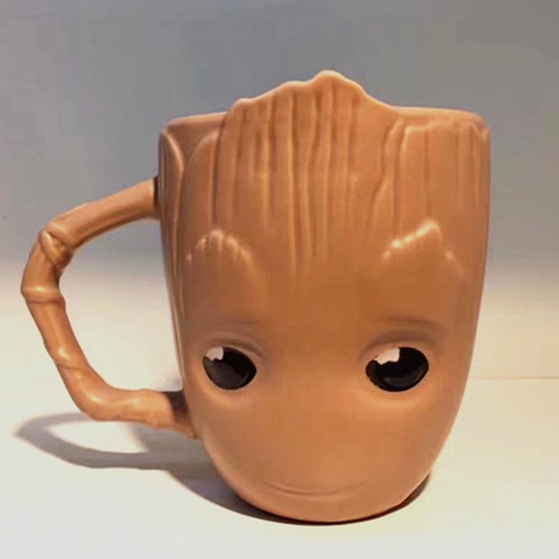 New design Breakfast milk coffee mug,Guardians of The Galaxy Flowerpot Baby Water Cup Cute Breakfast Cup Mug Cute Gift