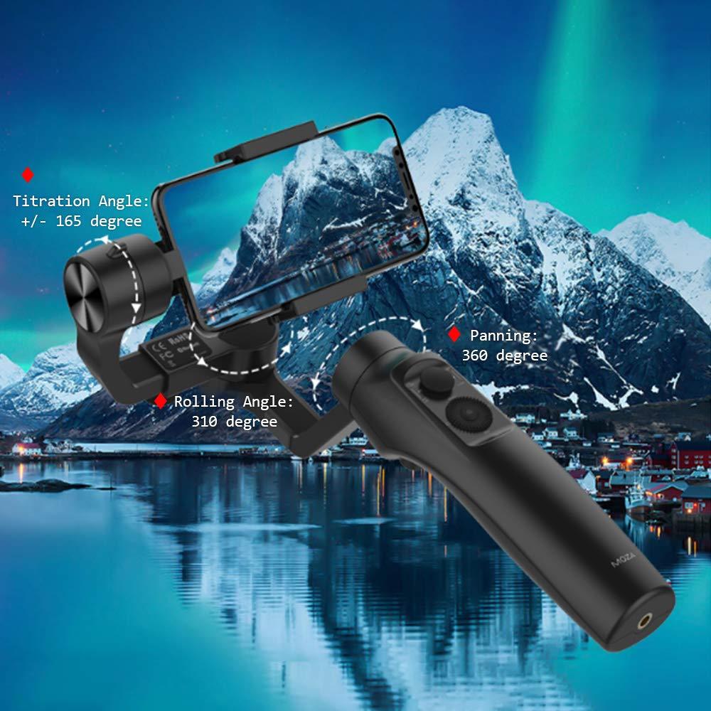 Stabilisateur de cardan Moza mini-mi Vlog 3 axes pour Smartphone iphone/8/7/7 Plus/6, caméra d'action Huawei Samsung Galaxy & Gopro - 5