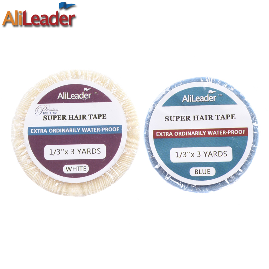 Alileader Glue For Human Skin Double Sided Hair Tape Professional Adhesive Tape For Toupee Lace Front Hair System Tape 3-36 Yard