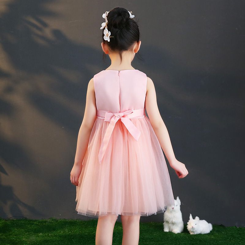 3e9566ff45c7c 2019 New Kids Girls Embroidery Flower Wedding Party Dresses Teenage Girls  Tulle Frocks Mesh Dress Children Princess Vestidos Q76