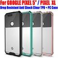 Para google pixel xl case gota resistente antichoque ultra cubierta del silicio de tpu para google pixel + protector de pantalla transparente GP1
