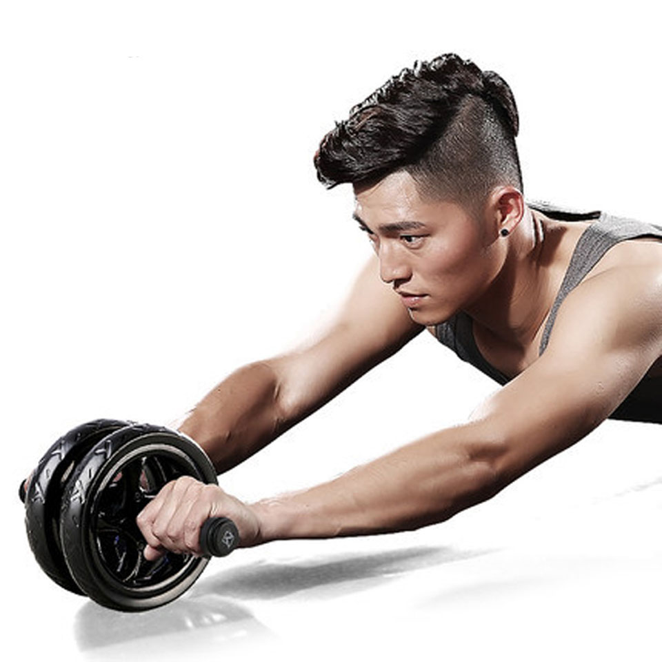 New Keep Fit Wheels No Noise Abdominal Wheel Ab Roller With Mat For Arm Waist Leg Exercise Gym Fitness Equipment