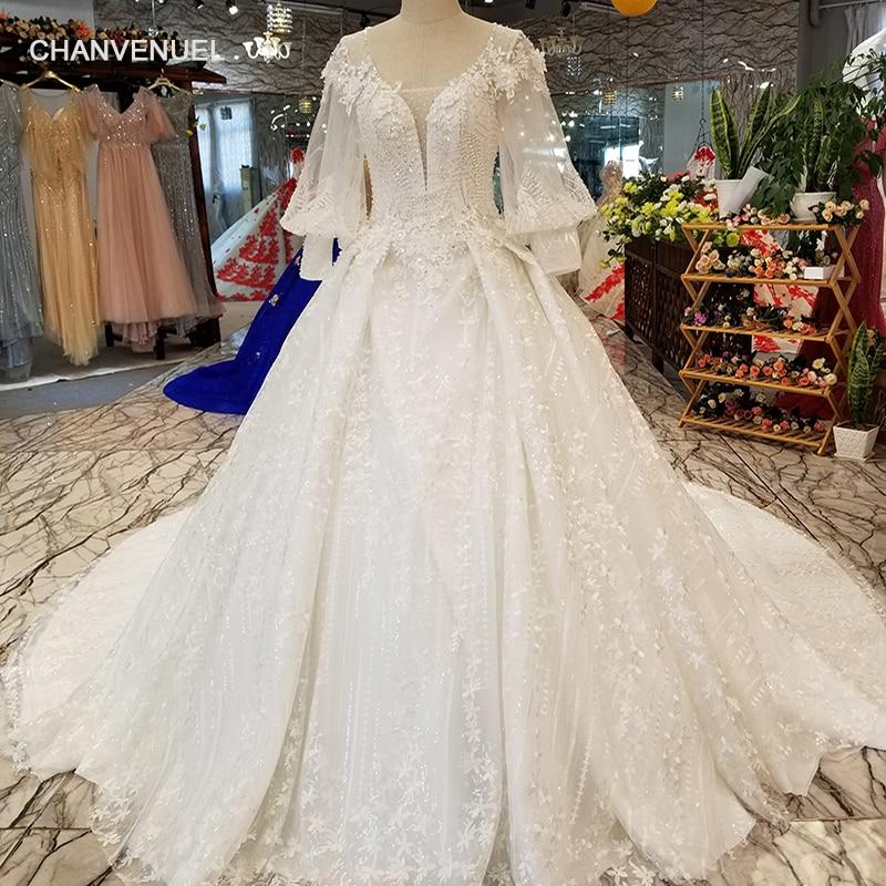 LS12800 Lantern Sleeve Wholesale Beauty Wedding Gown O