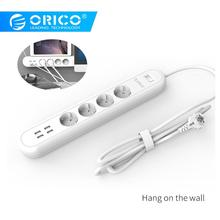 ORICO EU Power Strip with 4 USB Charging Ports Socket Plug Multifunctional Home Office Fast Charge Smart Charger