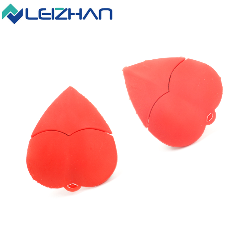 The red heart  pen drive external storage usb pendrive 4GB 8g 16g 32g 64g usb flash drive Flash Card