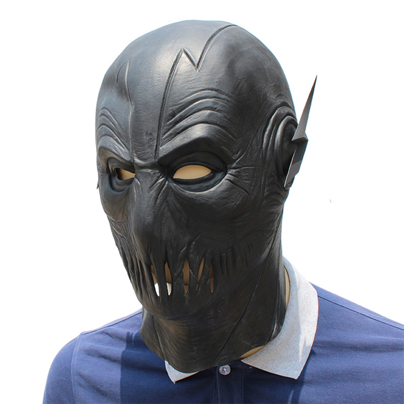The Flash Cosplay Mask Latex Full Head Party Black Mask Cosplay Superhero Flash Costume Prop