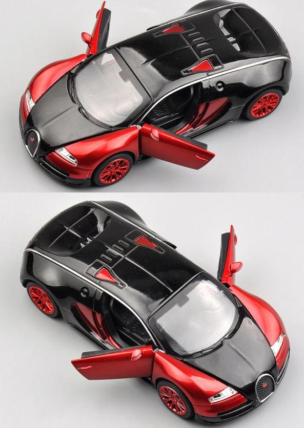 1 32 Scale Bugatti Veyron Alloy Diecast Car Model Pull Back Toy Cars Electronic Car with