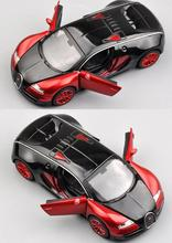 1:32 Scale Bugatti Veyron Alloy Diecast Car Model Pull Back Toy Cars Electronic Car with light&sound Kids Toys Gifts