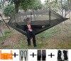 Hiking Camping Hammock Mosquito Net Parachute Fabric Indoor Outdoor Home Garden Beach Hangmat Backpacking Portable Travel