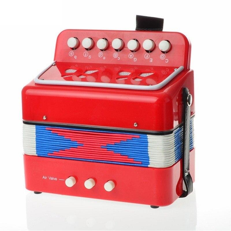 Accordéon en bois jouets pour enfants fille 7 touches bouton musique Instrument de musique Oyuncak Brinquedo Menina Juguetes Brinquedos