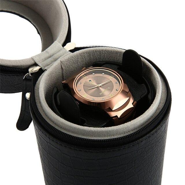 High Quality Auto Silent Watch Winder Cylinder Wristwatch Box Watch Winders Mute Case Storage Display Box EU Plug Caixa Relogio | Fotoflaco.net