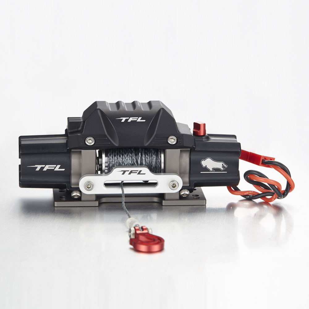 TFL Metal Winch Double Electric Winch A Double Motor Drive Winch For SCX10 9002790035 Simulation Climbing Car aurora double drive 1500