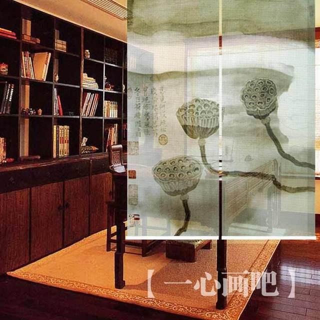 Handmade micro mesh fabric art painting hanging screensroom