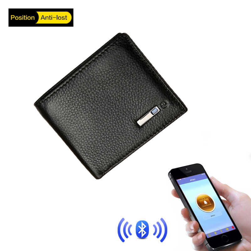 2018 Smart Wallet Men Genuine Leather High Quality Anti Lost Intelligent Bluetooth Purse Male Card Holders Suit for IOS, Android
