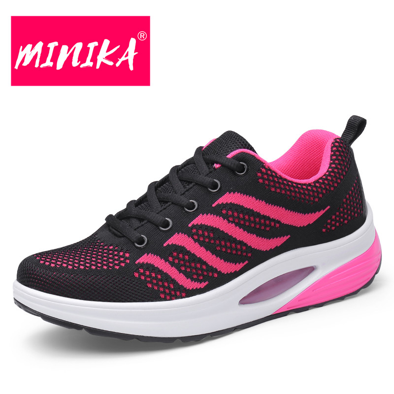 MINIKA Fashion Design Casual Sneakers Women Durable Outsole Colorful Lace-Up Flat Shoes Women Breathable Platform Sneakers Women