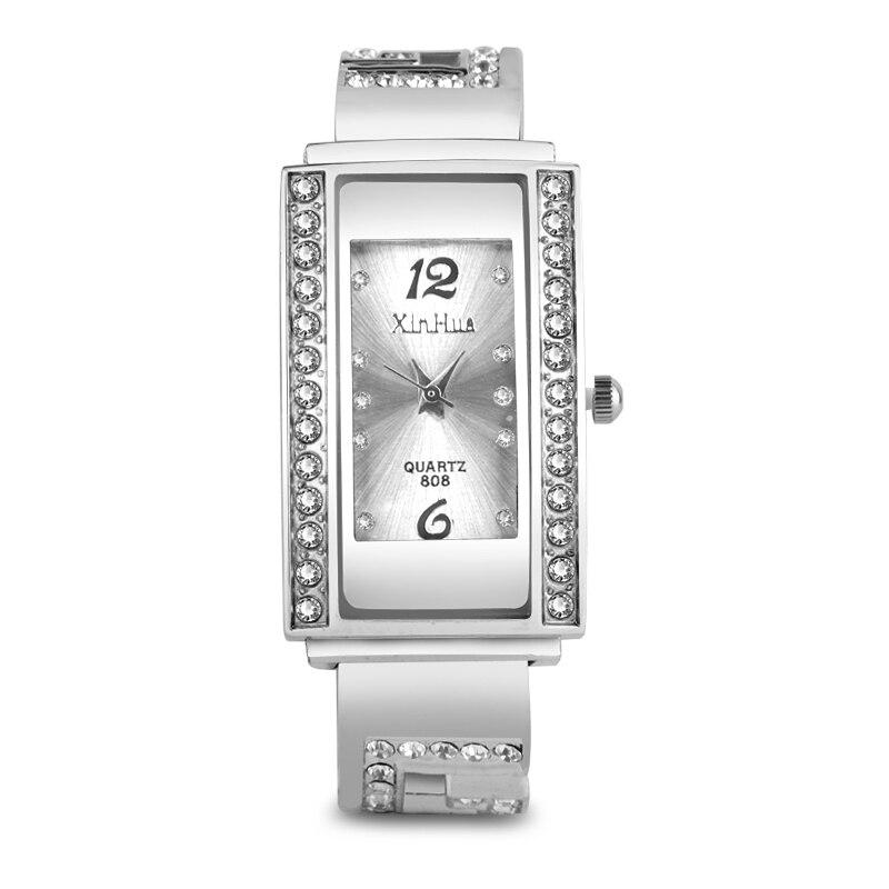 Yg76yvbfi Frauen Uhren Mode Silber Armband Uhr Luxus Diamant Yyb6gvmIf7
