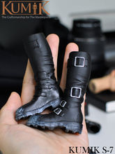KUMIK S-7 Toys 1/6 Female Black Leather Boots Shoes Model Toys For 12″ Action Figure Body Accessory