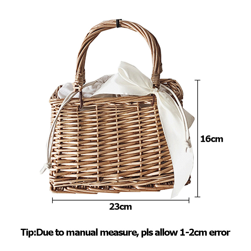 Women Bamboo Beach Bags Summer Female Straw Handbag Bohemian Vintage Rattan Ribbon Holiday Bag Lady Handmade Tote SS3197 (6)