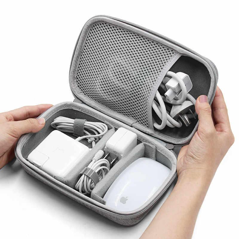 Sert Kabuk Dijital Araçlar saklama çantası Mac Adaptörü Fare Veri Kablosu Kulaklık HDD Elektronik Alet Organizatör Vaka