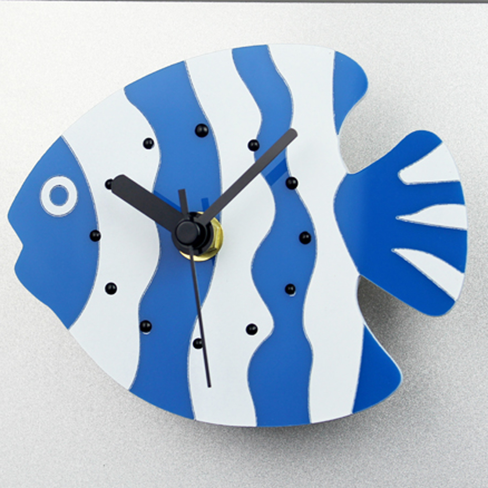 online get cheap creative design clock aliexpresscom  alibaba group - fridge magnet cute fish ocean modern design clock individual creative homedecor clock silent non
