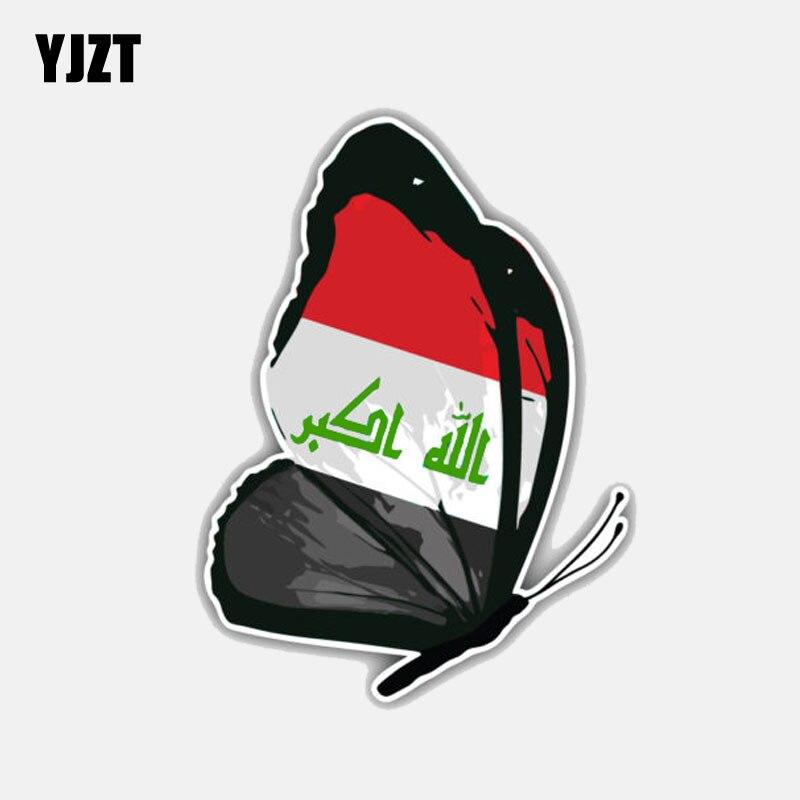 3/'/' 5/'/' or 6/'/' Iraq Flag Butterfly Car Bumper Sticker Decal