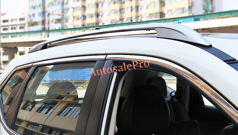 Aluminium Alloy Side Roof Rack Luggage Carrier Rails Bars For Nissan X-Trail Rogue 2014 2015 car styling accessories silver roof rack side luggage carrier bars 1set for nissan x trail rogue 2014 2015 2016 2017