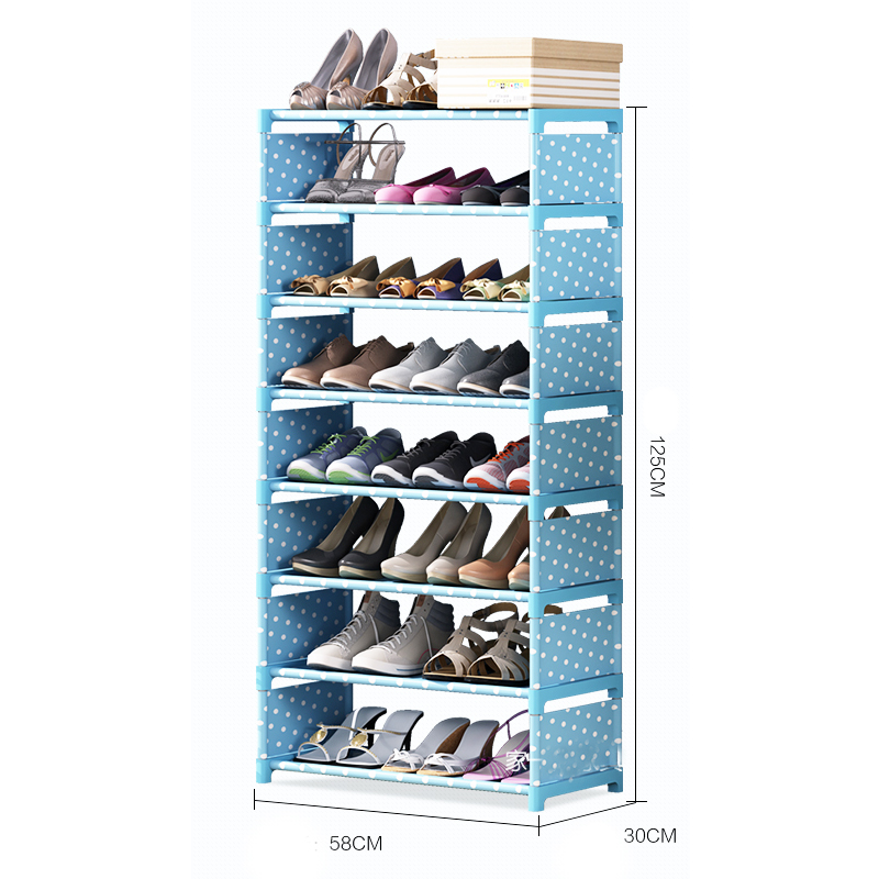 Y169,8 layers Shoe Rack organizers Thick Non-woven  Fabric Dustproof   DIY Shoe  Storage  Shelf  Cabinet High quality PP Tube seven layers six grid thick non woven simple shoe cabinet dustproof creative diy assembly storage shoe rack shoe organizer shelf