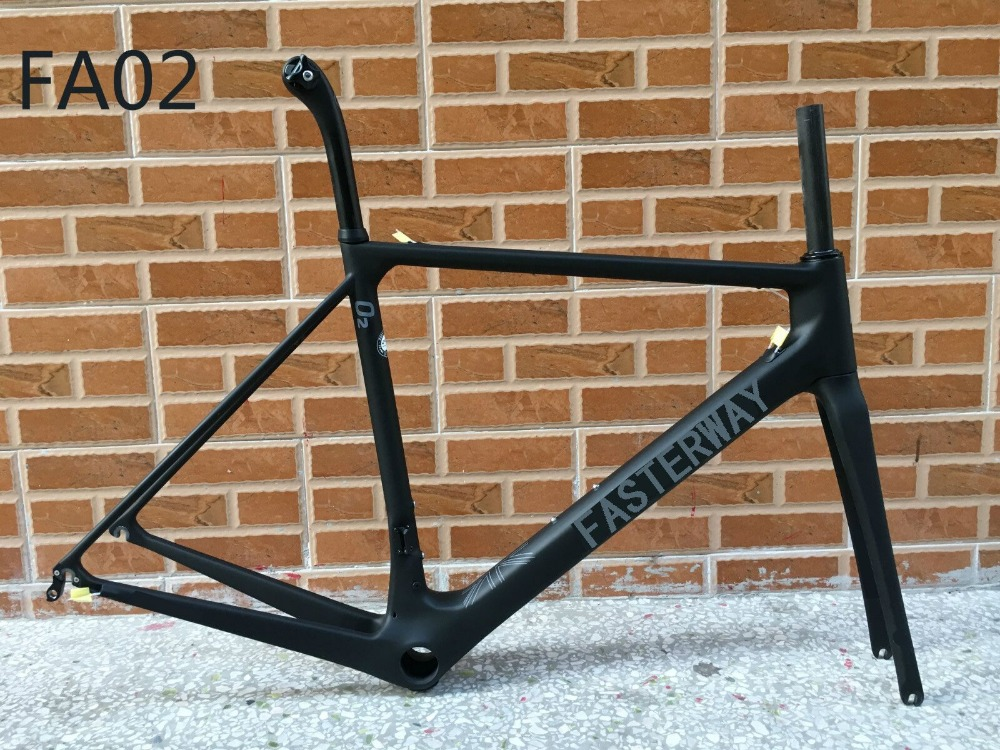 T1000 2018 limited version fasterway O2 dark blue carbon road frame:carbon Frame+Seatpost+Fork+Clamp+Headset,ems free shipping