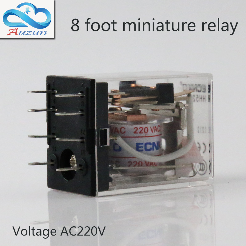 10 pieces hh52P small current relay intermediate relay AC220 8 a foot 5 a2 2 closure ECNKO voltage DC24V DC12V or other