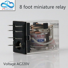 10 pieces hh52P small current relay intermediate relay AC220 8 a foot 5 a2 2 closure ECNKO voltage DC24V DC12V or other hong yang hh52p 12vcd relay w pyf08a base