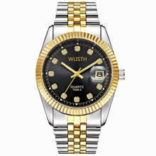 цена WLISTH stainless steel watchband waterproof quartz watch luxury wall clock, designed for men waterproof relogio masculino онлайн в 2017 году