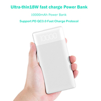 10000mAh External Battery Charger Slim Power Bank PD QC 3.0 Type C USB Powerbank for Iphone Samsung Huawei Mobile Phone Charger