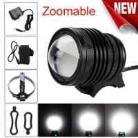 New LED Waterproof Zoom USB Charging Super Bright Bike Headlight Zoomable T6 LED 5000 Lm Bicycle