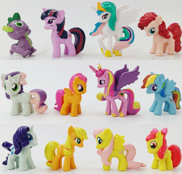 Crafts12pcs / Lots Super Mini modelos de caballos diferentes formas ...