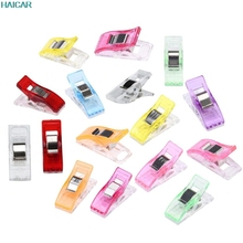 New Qualified 50 PCS Colorful Housekeeping Clips Clear Sewing Craft Quilt Binding Plastic Clips Clamps Pack FEB14