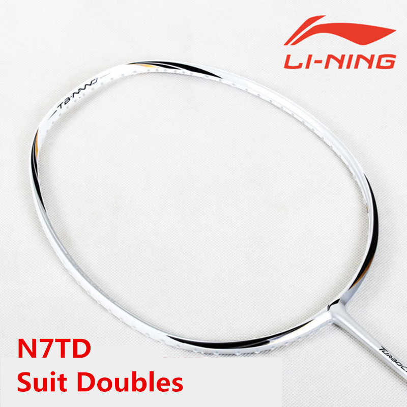 Suit Doubles Lining Badminton Rackets N7-TD TB-nano LiNing Badminton Offensive Defensive LiNing Racquet With Overgrip L241OLB