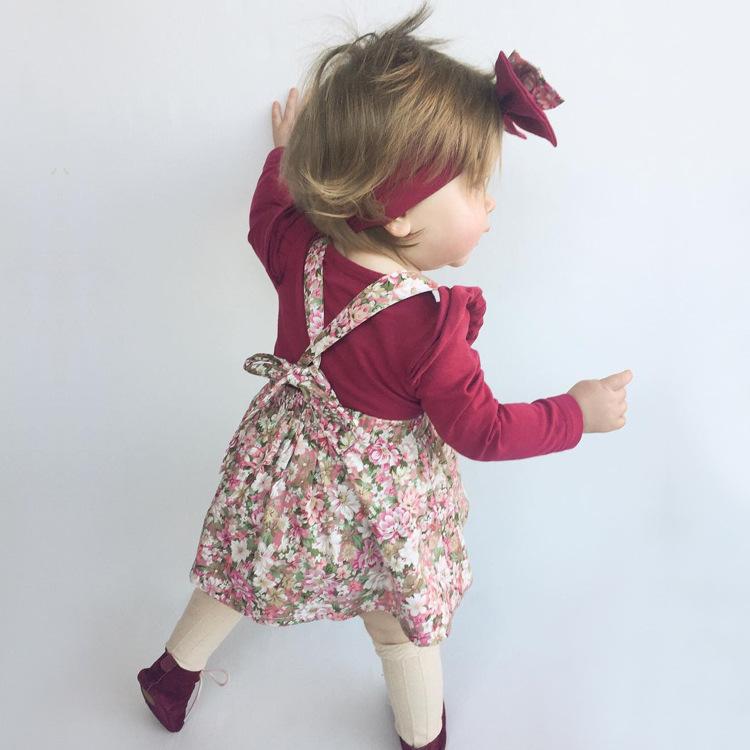HTB1P8Wrm26H8KJjy0Fjq6yXepXad - 1-4y Summer Children Clothing Floral Girl Skirt Cotton Cute Toddler Suspender Skirts for Baby Girls Clothing