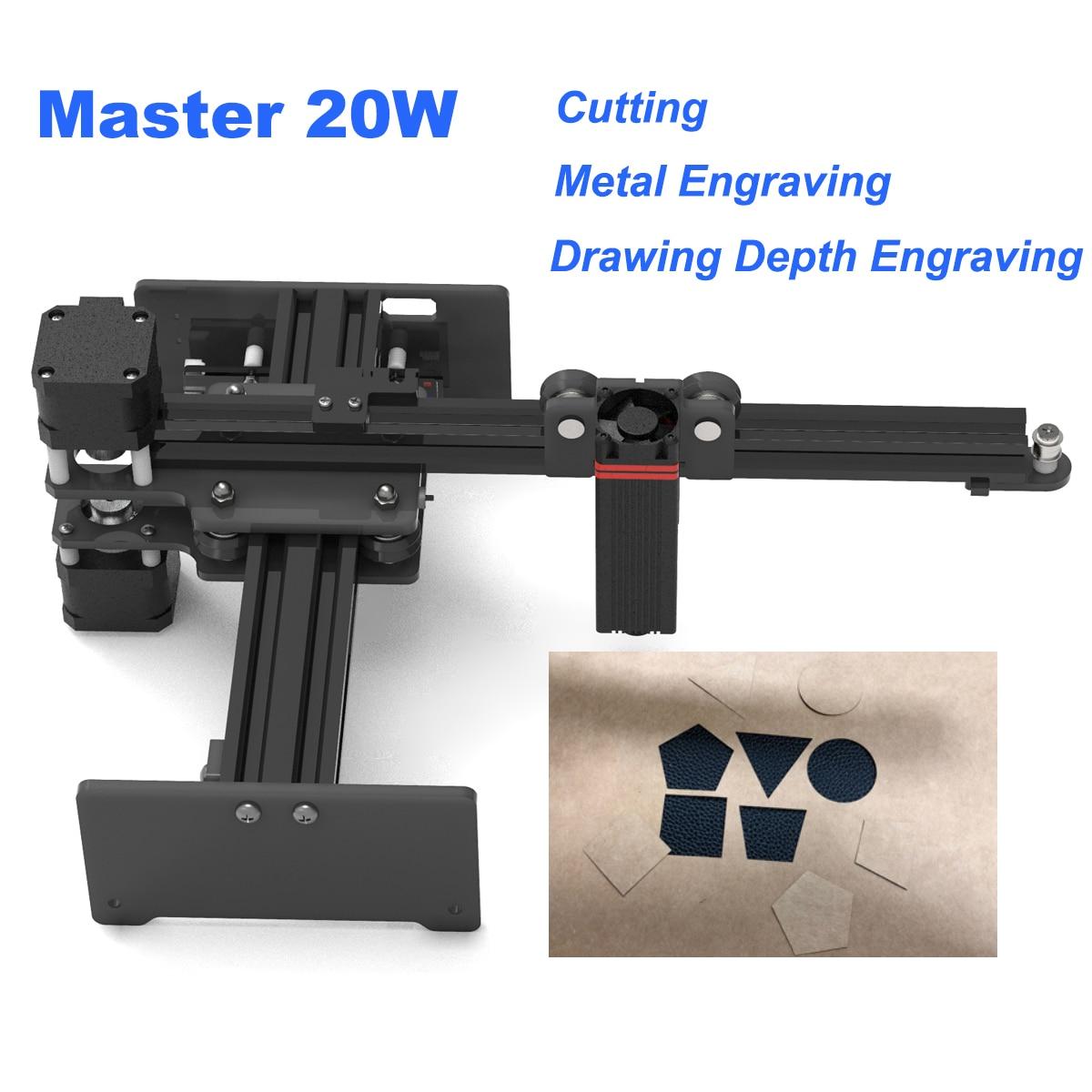 NEJE MESTRE 20 W DIY Máquina de Gravação A Laser Mini CNC Madeira De Corte Router Gravador De Mesa de Metal/Madeira/ plásticos