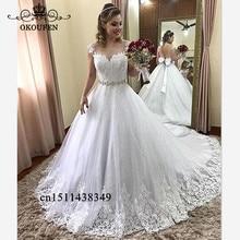 OKOUFEN Stunning Wedding Dress 2019 Backless Dresses For