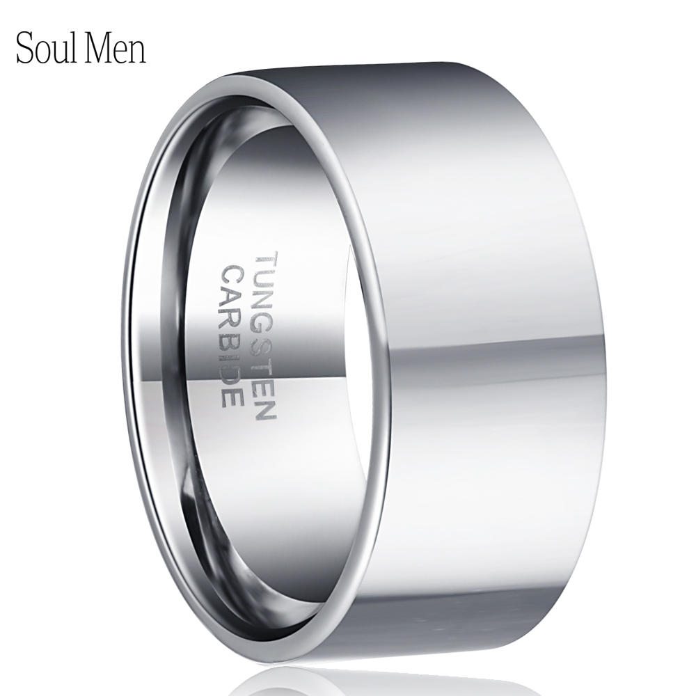 Dropshipping Custom Laser Name Anniversary Date Tungsten Wedding Band 11mm Big Rings For Men Male Personalize Jewelry Size 7-13