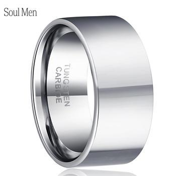 71e65bfea456 Dropshipping nombre láser personalizado fecha de aniversario tungsteno boda  banda 11mm anillos grandes para hombre personalizar joyería Tamaño 7-13