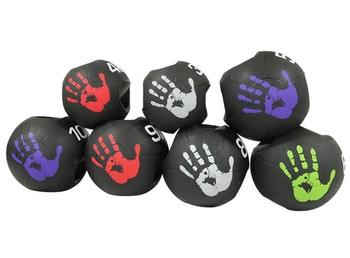 Palm print style Dual grip Medicine Ball Rubber Fitness Ball Imbalance Training Solid Gravity Ball