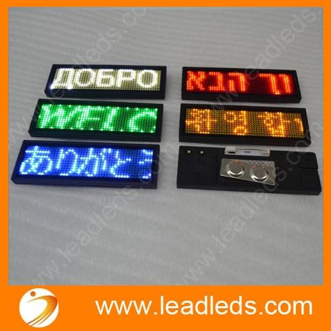 5 Multi - Language Programmable Led Name Badge