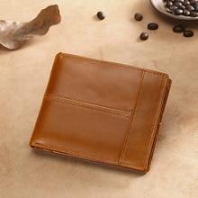 High Quality Genuine Leather Wallet Men Brand Fashion Short Purses Male Gift Id Credit Card Holder Slim Bifold Wallet Men Luxury
