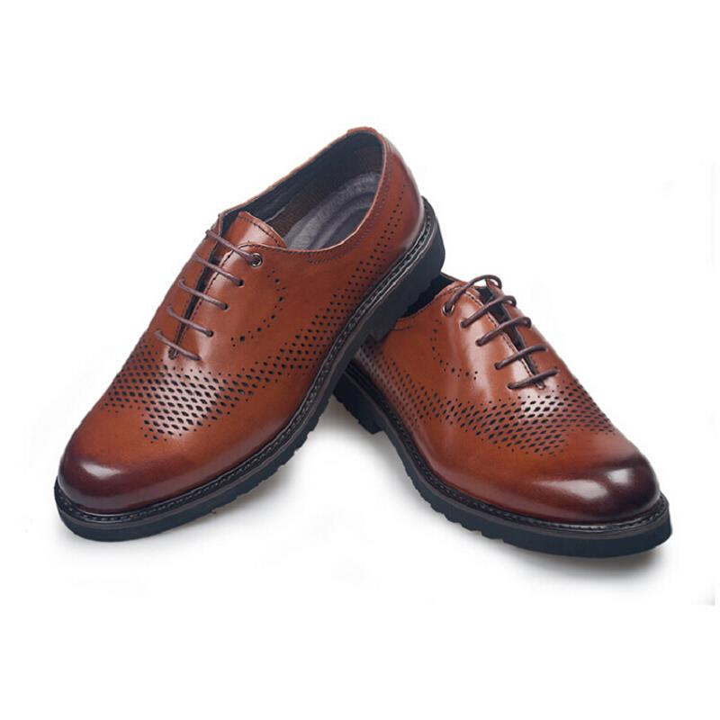 Calçado Vestido Marrom Size Preto Italiano Preto Homens Do Mycolen Sapatos marrom De Homem Sapatas Respirável Escavar Couro Genuíno Formal Acima Ata Plus WEXqHYEBw